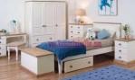 tempat tidur minimalis duco putih km 068