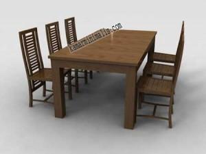 meja kursi makan minimalis jepara km 042