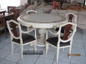 meja kursi makan prancis km 044