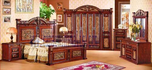 set tempat tidur maja pahit lengkung