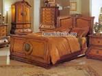 set bed furniture dipan jati km 091