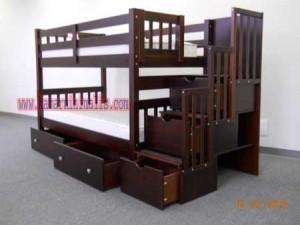 tempat tidur tingkat furniture jepara km 072