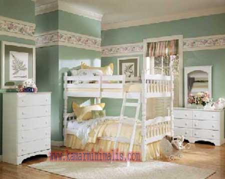 tempat tidur tingkat anak cewek