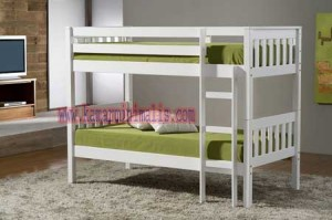 tempat tidur tingkat minimalis duco putih km 088