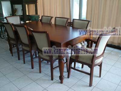 set meja makan jati mewah