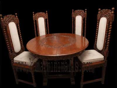 meja kursi makan sofa antik