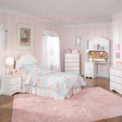 set tempat tidur anak cewek cat duco