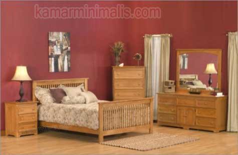 set tempat tidur anak minimalis kayu jati