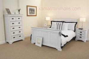 tempat tidur minimalis cat duco putih km 210