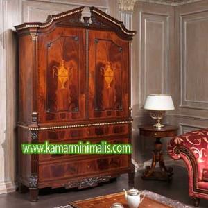 lemari ukir kayu jati antik km 240