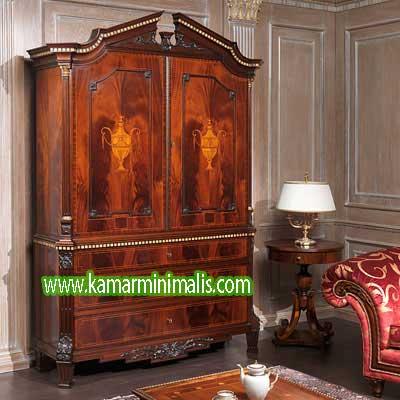 lemari ukir kayu jati antik