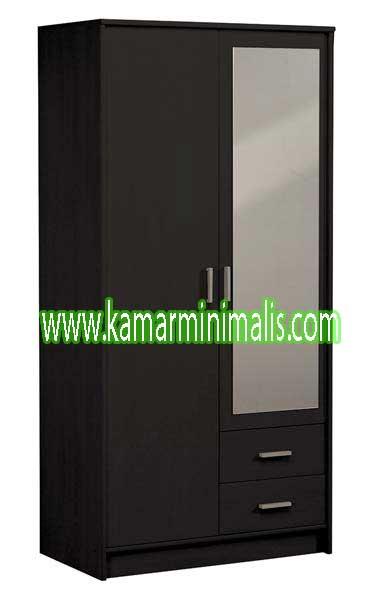 lemari pakaian minimalis 2 pintu cat duco