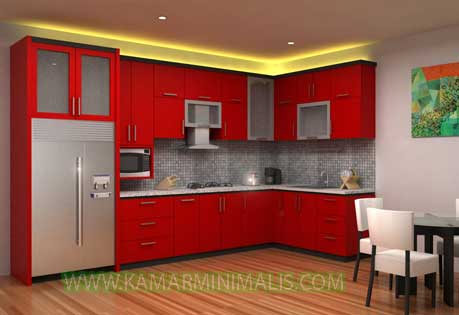 desain kitchen set minimalis cat duco
