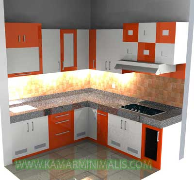 Kitchen Set Warna Warni Hpl Cat Duco Km 260 Kamar Minimalis