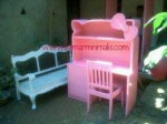 meja belajar anak cat duco ping model hello kitty km 272