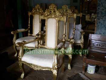 furniture classic kursi raja ukir jepara