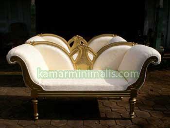 kursi sofa luis italy gold cat duco emas