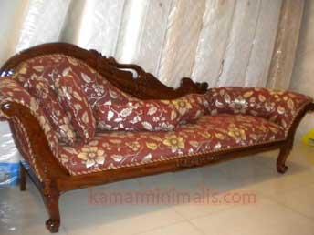 bangku sofa louis kayu jati