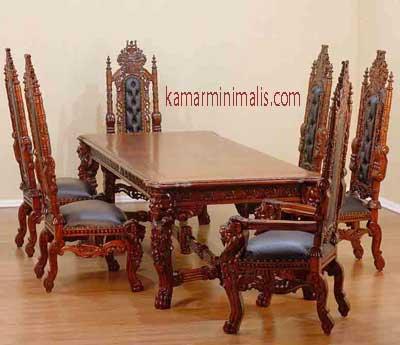 kursi makan raja kayu jati