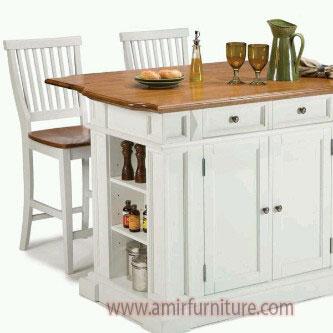 kursi meja makan bar cat duco putih