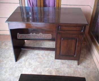 meja kantor / komputer kayu jati