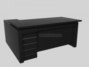 interior meja kerja minimalis lapisan hpl / cat duco km 310
