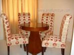 kursi meja makan kayu jati jok sofa km 319