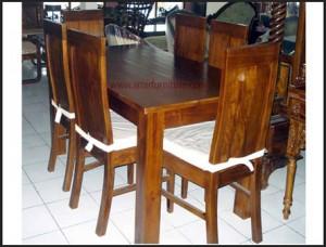 meja kursi makan kayu jati km 325