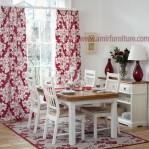 meja kursi makan minimalis cat duco putih – furniture jepara km 320