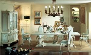 Kursi Meja Makan Cat Duco Putih
